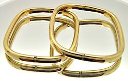 Pair of Matching 14kt Yellow Gold Bangles