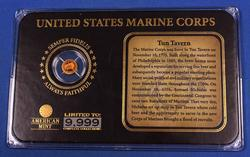 14kt Gold Marines Mini Coin and Display