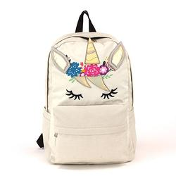 Unicorn Backpack in Canvas Material
