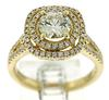 High Quality Diamond Halo Ring in Yellow Gold