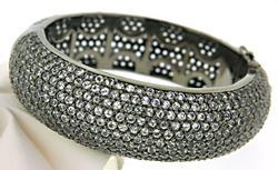Eye Catching 50ctw White Sapphire Bracelet