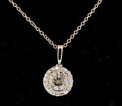 Beautiful White & Brown Diamond Pendant Necklace