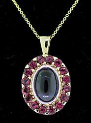 Tempting Rose Quartz & Garnet Pendant Necklace