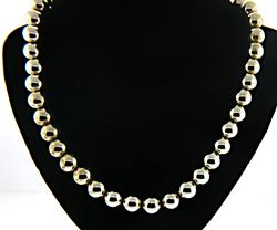 Sterling Silver 10mm Ball Beaded Necklace