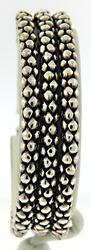 Triple Strand Popcorn Chain Bracelet