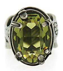 Sterling Silver Green CZ Ring