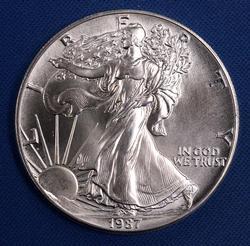 BU 1987 American Silver Eagle