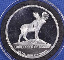 Loyal Order of the Moose, 1oz Fine Silver Round
