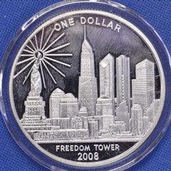 Cook Islands Dollar, WTC to Freedom Tower, Silver