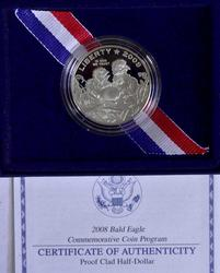 2008 Bald Eagle Proof Commem 50c, OGP