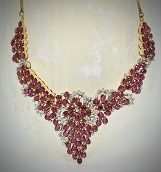 Impressive 18K Ruby & Diamond Necklace