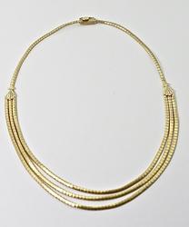 Lovely 3 Strand 14K Necklace