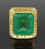 Certified Colombian Emerald and Diamond Ring