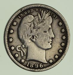 1896-S Barber Quarter - Circulated
