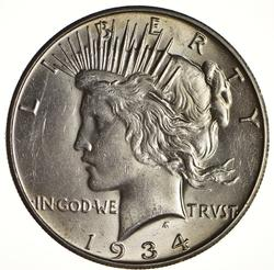1934-S Peace Silver Dollar - Circulated
