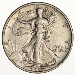 1920 Walking Liberty Half Dollar - Circulated