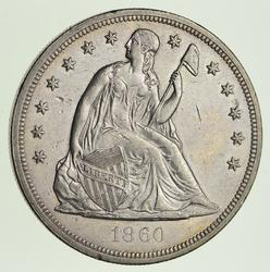 1860-O Seated Liberty Silver Dollar - Circulated