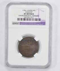 XF Details 1786 Post-Colonial Vermont Landscape Copper - NGC Graded