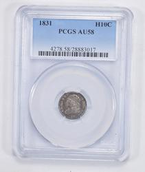 AU58 1831 Capped Bust Half Dime - PCGS Graded