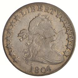 1806 Draped Bust Half Dollar - Heraldic Eagle Reverse - Circulated
