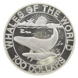 HUGE 1993 Commonwealth of the Bahamas $100 Dollars .999 Fine Silver