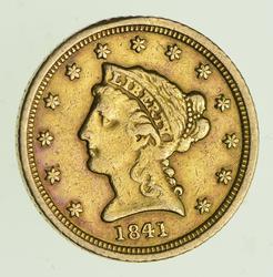 1841-D $2.50 Liberty Head Gold Quarter Eagle