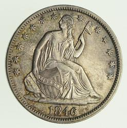 1846 Seated Liberty Silver Half Dollar - Circulated