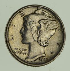 1942/1 Mercury Silver Dime - Near Uncirculated