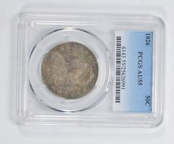 AU55 1826 Capped Bust Half Dollar - PCGS Graded