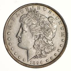 1894 Morgan Silver Dollar - Near Uncirculated