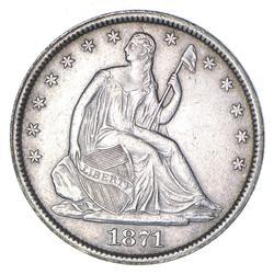 1871-S Seated Liberty Half Dollar - Near Uncirculated