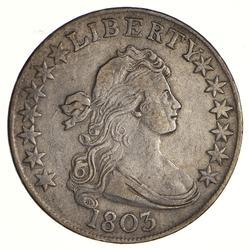 1803 Draped Bust Half Dollar - Heraldic Eagle Rev - Circulated