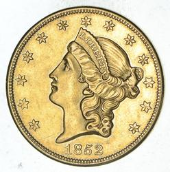 1852-O $20.00 Liberty Head Gold Double Eagle - Near Uncirculated
