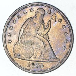 1870-CC Seated Liberty Silver Dollar - Circulated