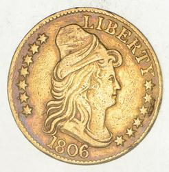 1806 $5.00 Capped Bust To Right Gold Half Eagle