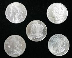 5pc Morgan Dollar Mint Set Uncirculated P,D,S,O & CC