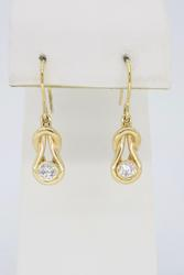 Unique Bezel Set Diamond Earrings