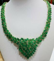 MEGA 66+ Carat Emerald Statement Necklace in 14kt Gold!
