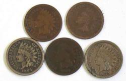 Lot of Pre 1880 Indian Head Cents