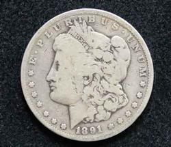 Collectible 1891 Carson City Mint Morgan Dollar