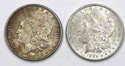 1886 and 1896 Slider Morgan Dollars