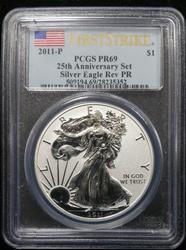 Certified 2011-P Rev Proof Silver Eagle PCGS PR69