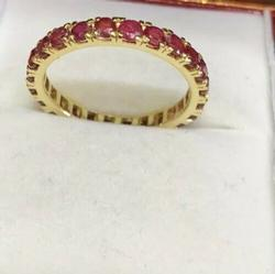 14kt Ruby Eternity Band
