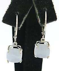 Lavender Agate Dangle Earrings