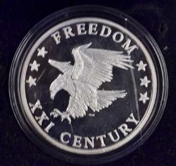 2000 21st Century Freedom 1oz Fine Silver Round