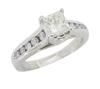 14K White Gold 1.00CTW Diamond Engagement Ring