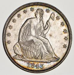 1843 Seated Liberty Half Dollar - Circulated