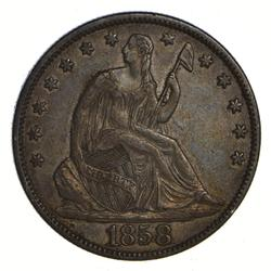 1858 Seated Liberty Half Dollar - Circulated