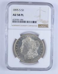 AU58 PL 1895-S Morgan Silver Dollar - NGC Graded