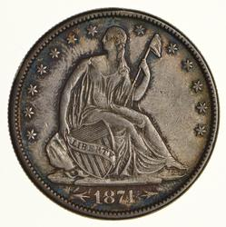 1874 Seated Liberty Half Dollar - Circulated